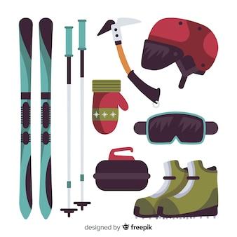 Equipación deporte invierno plana