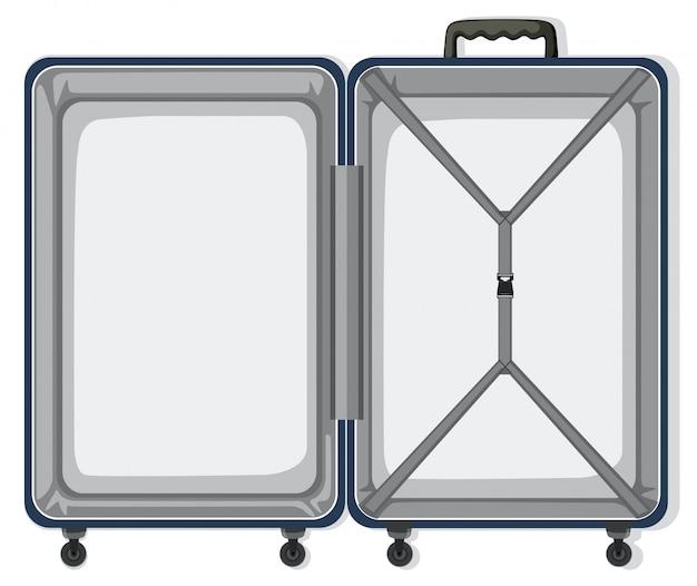 Un equipaje de viaje vacío.
