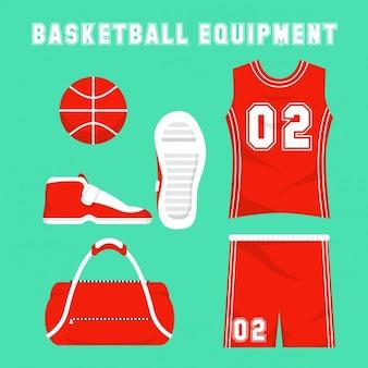 Equipamiento de baloncesto plano