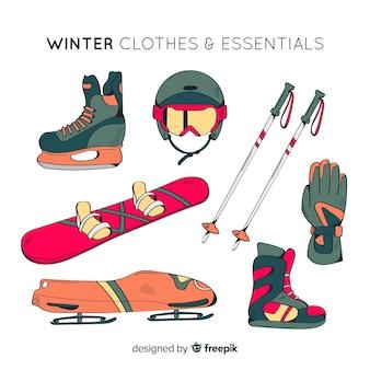 Equipamiento de de deporte de invierno