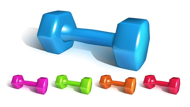 Equipamiento deportivo dumbell fitness