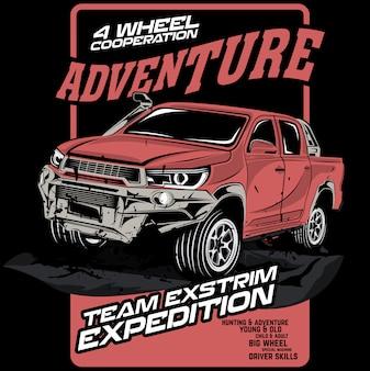 Equipo de aventura extrema.