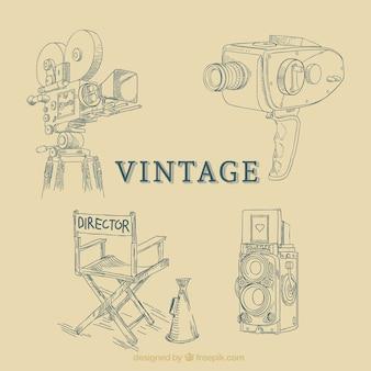 Equipo de cine, vintage