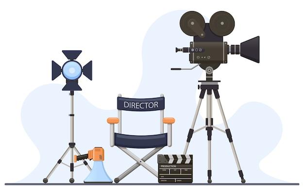 Equipo de cinematografía para rodaje