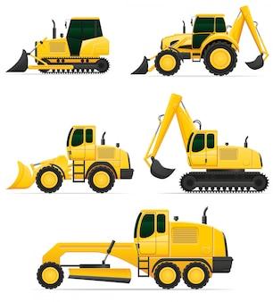 Equipo de coche para trabajos de construcción.