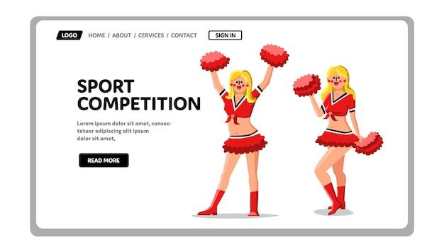 Equipo de competición deportiva apoyo por animar