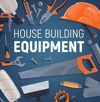 Equipo de construcción, herramientas de construcción y reparación.