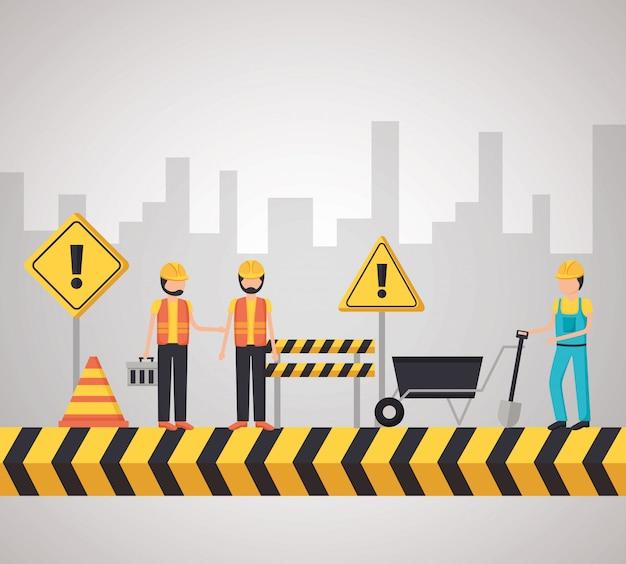 Equipo de construcción del trabajador