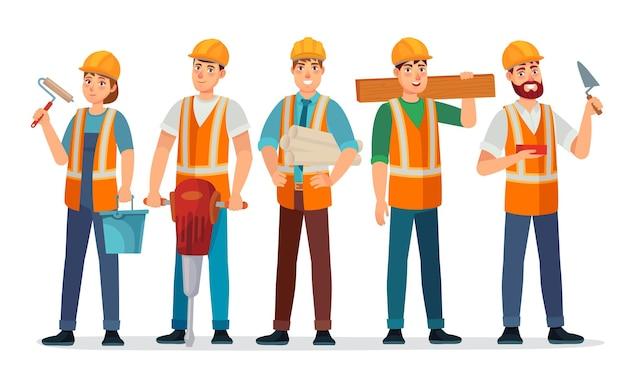 Equipo de constructores profesionales