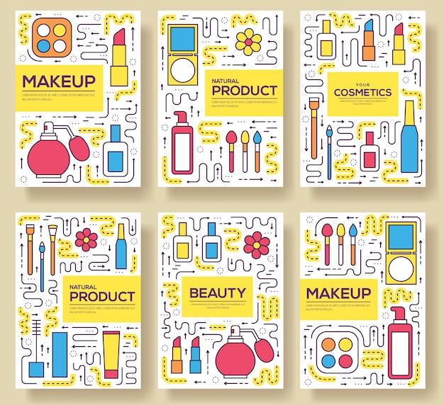 Equipo cosmético de infografía para la belleza.