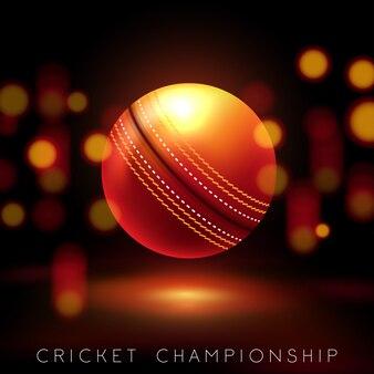 Equipo de cricket realista como el bate.