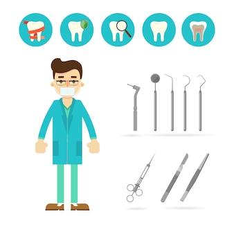 Equipo de dentista aislado