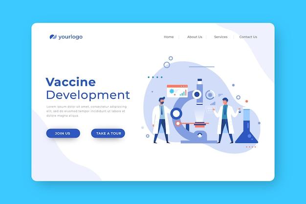 Equipo de desarrollo de vacunas de personas científicas