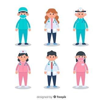 Equipo de enfermería plano