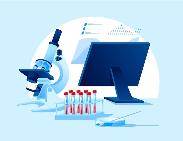 Equipo especial para laboratorio de biología y medicina científica
