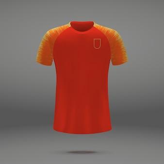 Equipo de fútbol de china, plantilla de camiseta para camiseta de fútbol.
