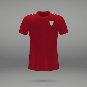 Equipo de fútbol liverpool, plantilla de camiseta para camiseta de fútbol.