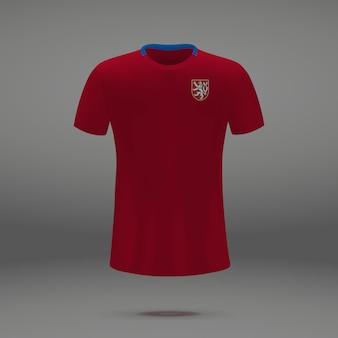Equipo de fútbol de república checa, plantilla de camiseta para camiseta de fútbol