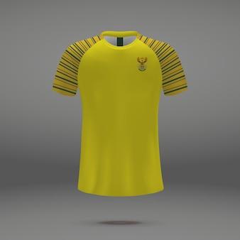 Equipo de fútbol de sudáfrica, plantilla de camiseta para camiseta de fútbol