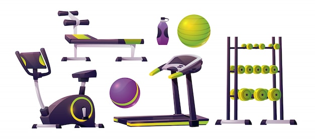 Equipo de gimnasia para entrenamiento, fitness y deporte.