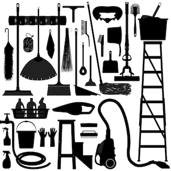 Equipo de herramientas domésticas para el hogar.