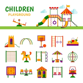 Equipo de juegos para niños
