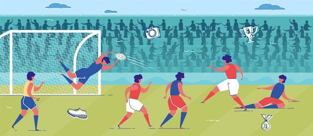 Equipo jugando fútbol o fútbol en campo de hierba.