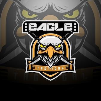 Equipo de logo táctico cabeza de águila