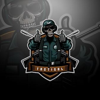 Equipo de logotipo táctico de la fuerza aérea
