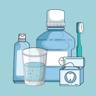 Equipo de medicina dental tratamiento de higiene