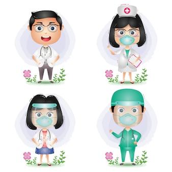 Equipo médico: médicos y enfermeras.