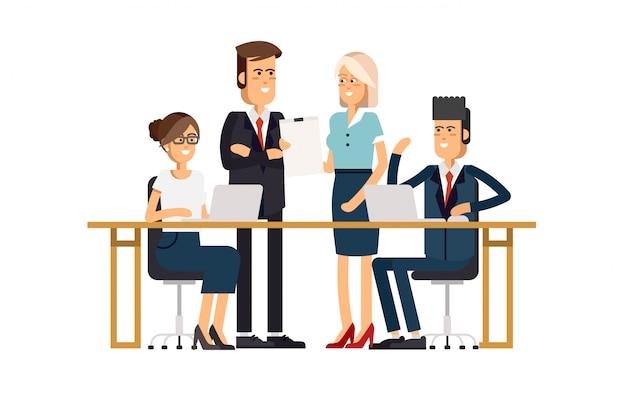 Equipo de negocios. un grupo de personas