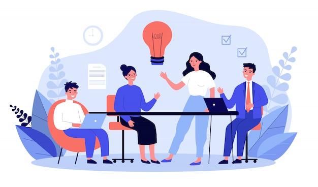 Equipo de negocios trabajando juntos