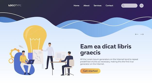 Equipo de negocios trabajando en proyecto
