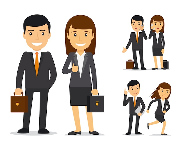 Equipo de negocios vector personajes