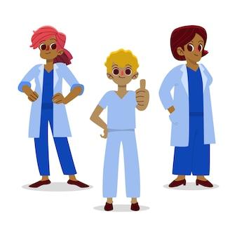 Equipo de salud profesional sonriente