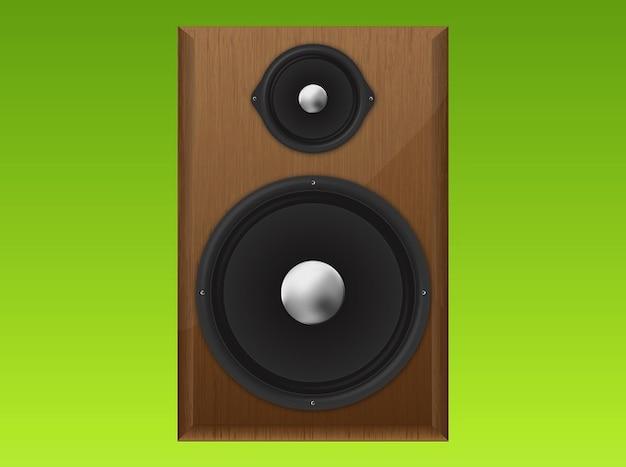 Equipo de sonido del altavoz vector realista