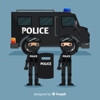 Equipo swat de policia