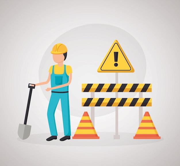 Equipo de trabajador de la construcción