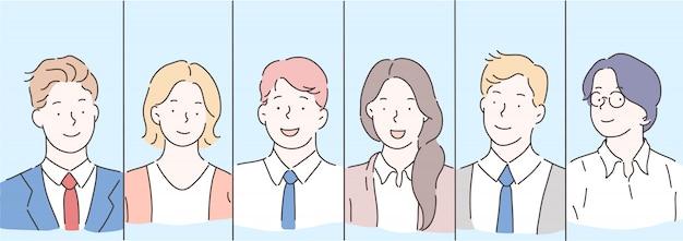 Equipo, trabajo en equipo, concepto de gente de negocios.