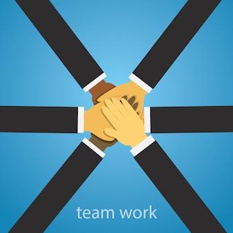 Equipo de trabajo en equipo equipo trabajo duro concepto