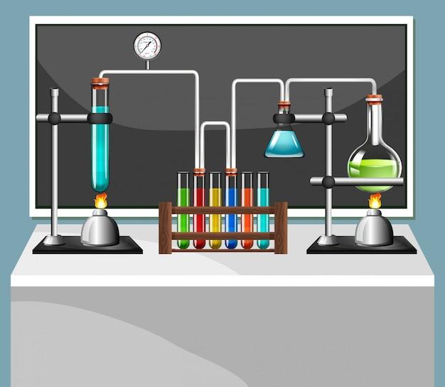 Equipos de ciencia en laboratorio