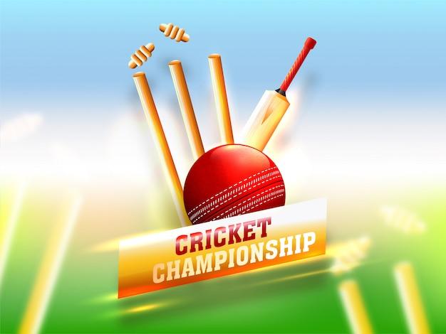 Equipos de cricket realistas como el bate.