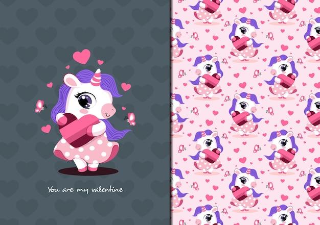 Eres mi patrón de unicornio de san valentín