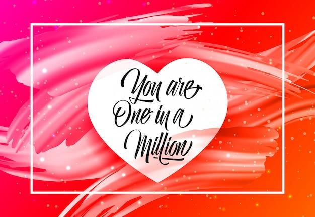 Eres uno en millones de letras en marco