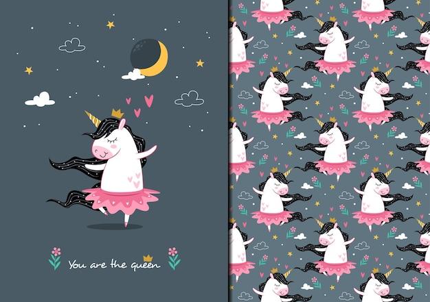 Eres el patrón de ballet reina unicornio