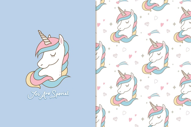 Eres un patrón de unicornio lindo especial