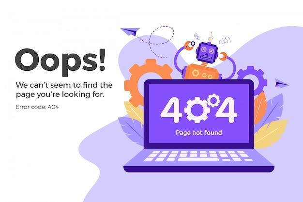 Error 404 no disponible en la página web. concepto de archivo no encontrado