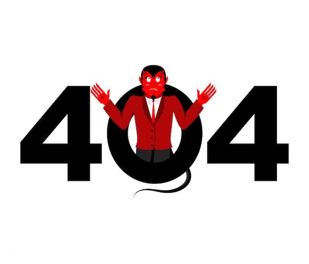 Error 404, página no encontrada para el sitio web con satanás