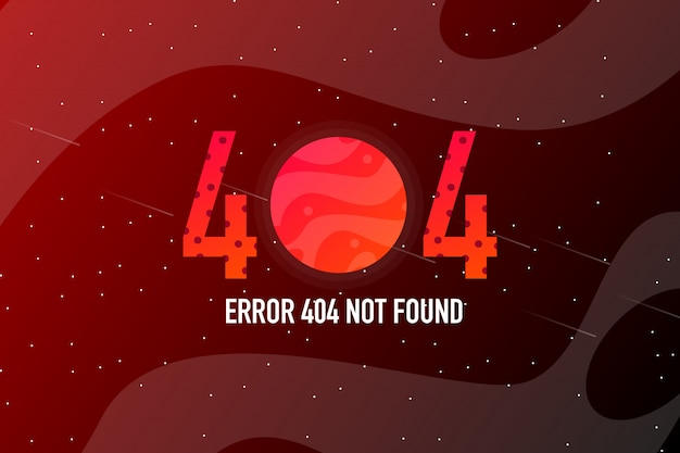 Error 404 página no encontrada